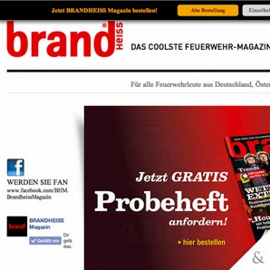 Brandheiss Magazin Website