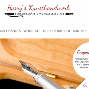Website Harry's Kunsthandwerk Weißkirchen