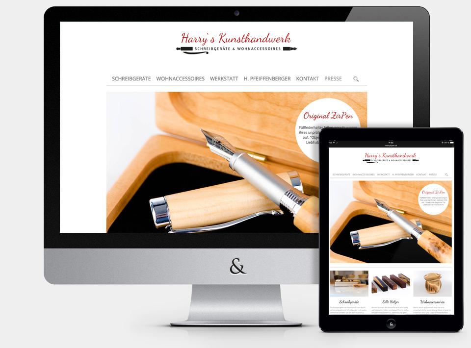 Website Harry's Kunsthandwerk Weißkirchen