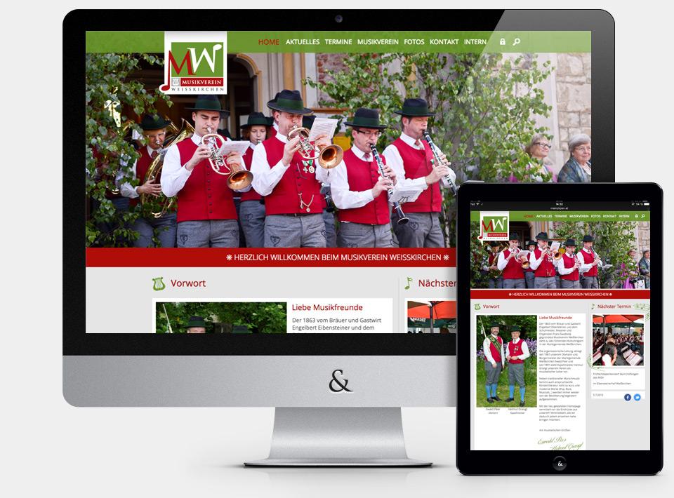 Website Musikverein Weißkirchen in der Steiermark