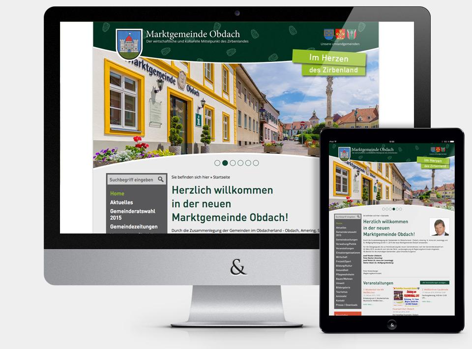 Website für die Marktgemeinde Obdach