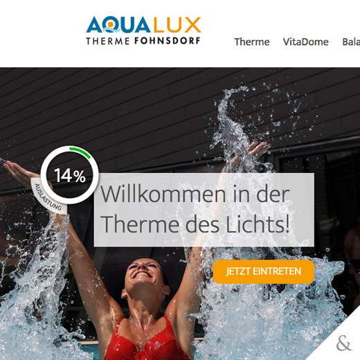 Therme Aqualux Fohnsdorf Website