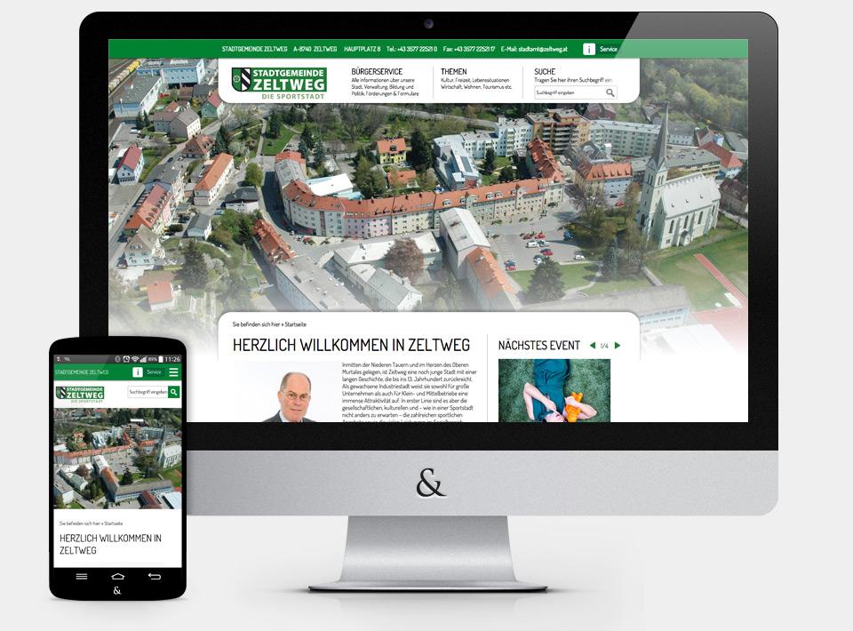 Website für die Stadt Zeltweg