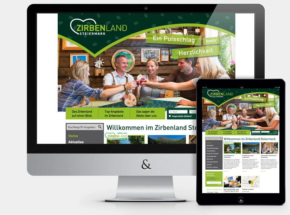 Website Zirbenland